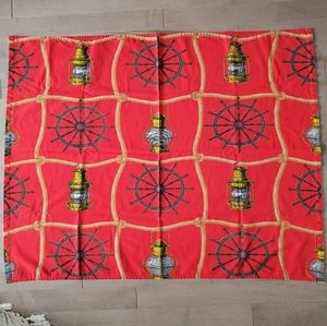 Vintage small table cloth - Nautical theme